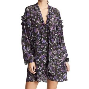 Iro Equate Purple Silk Dress - Size 34 (XS)